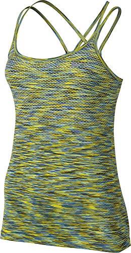 (Women's Nike Dri-FIT Knit Tank LEGION GREEN/ELECTROLIME/VIVID SKY)