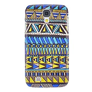 GJYBlue and Yellow Triangle Pattern Hard Case for Samsung Galaxy S4 I9500