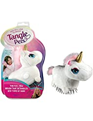Tangle Pets SPARKLES THE UNICORN- The Detangling Brush in a Plush, Great for Any Hair Type, Removable Plush, As Seen on Shark Tank