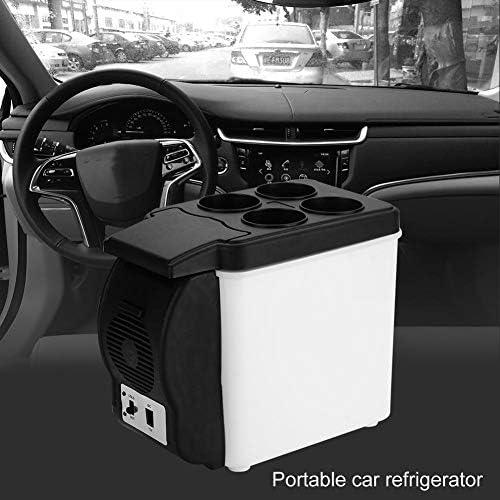 12V 6Lポータブルカー冷蔵庫パーソナル冷蔵庫ミニ多機能食品ドリンクウォーマークーラー冷蔵庫用車、トラック、SUV、RV、トレーラー