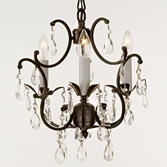 wrought iron crystal chandelier lighting country french 3 lights free shipping ceiling fixture - Wrought Iron Chandelier