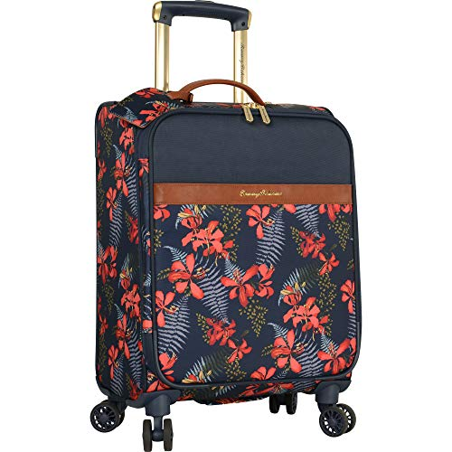 Tommy Bahama Carry On Luggage - 20 Inch Lightweight Expandable Rolling Spinner Luggage with Wheels Travel Suitcase, Iris Navy (Bahama Duffle Tommy Bag)