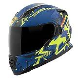 Speed & Strength 1111-0600-4356 SS1600 Critical Mass Helmet (Blue/Yellow/Black, XX-Large)