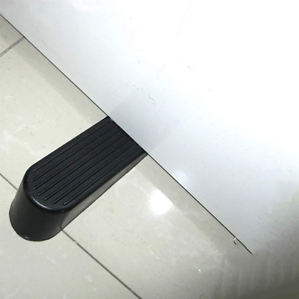 Yu2d  1Pcs Heavy Duty Rubber Door Wedge Stops Stopper Home Office(Black)