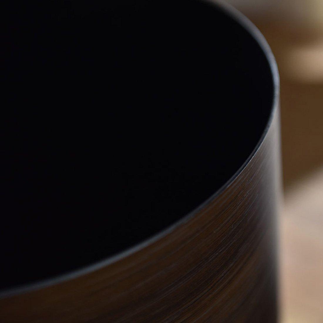 OIURV 10L Retro Stil M/ülleimer Papierk/örbe Mimetisches Holz Kunststoff ohne Deckel Abfalleimer f/ür B/üro Badezimmer Schlafzimmer k/üche Braun
