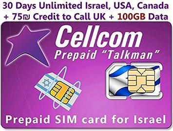 Tarjeta SIM prepagada de Cellcom, incluye 30 días ilimitados de ...