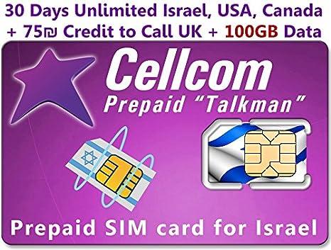 Tarjeta SIM prepagada de Cellcom, incluye 30 días ilimitados ...