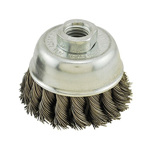 IVY Classic 38901 3-Inch x 5/8-Inch-11 Arbor, Stainless Steel Knot Wire Cup Brush - 0.020-Inch Coarse, 1/Card ()