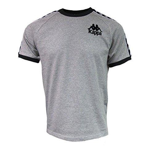 Kappa Mens Grey/Black Authentic Raul Retro Sport T-Shirt S