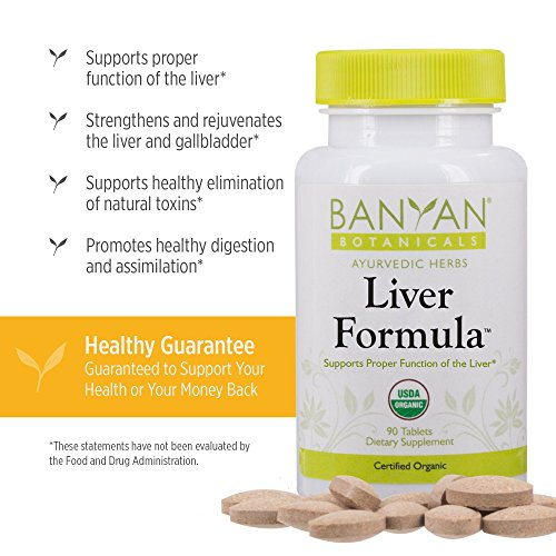 Banyan Botanicals Liver Formula - USDA Organic, 90 tablets - Cleansing Bitter Herbs to Detoxify the Liver & Gallbladder* by Banyan Botanicals (Image #1)