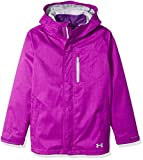 Under Armour Girls' ColdGear Infrared Gemma 3-in-1 Jacket, Purple Rave/Overcast Gray, Youth X-Small