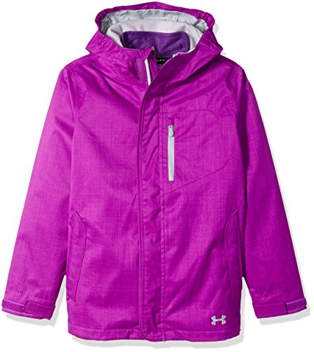 Under Armour Girls' ColdGear Infrared Gemma 3-in-1 Jacket, Purple Rave/Overcast Gray, Youth Medium by Under Armour