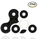 YGJ 2 Pack Spinner Fidget Toys Hand Rotor High Speed stainless steel Bearings 2-7 Minutes Rotation No noise No jitter EDC Focus Toy For Killing Time