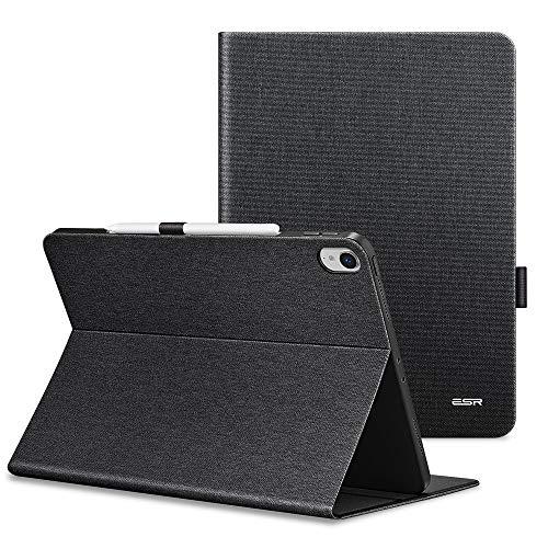 ESR Urban Premium Folio Case V2.0 for iPad Pro 11, [Support 2nd Gen Apple Pencil Wireless Charging],Book Cover Design, Multi-Angle Viewing Stand, Auto Sleep/Wake for iPad 11 (2018 Release), Black