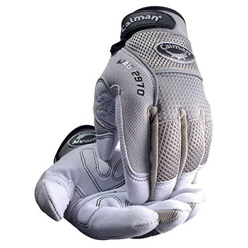 (Caiman 2970-7 XX-Lg Genuine American Deerskin Multi-Activity Glove, Gray )