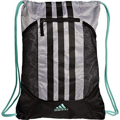 adidas Fat Stripes II Sack Pack, One Size (White Grip/Black/Energy ()