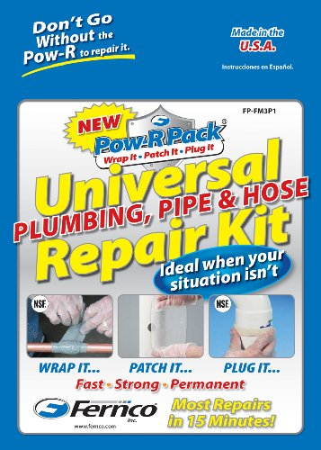 Fernco Inc. FP-FM3P1 Universal Plumbing, Pipe and Hose Repair Kit