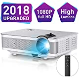 1080P Projector,Xinda 5.5 inch HD Projector with 200 Display.3500 LUX LED Video Projector with 60,000 Hours Lamp Life,Home Cinema Theater Support Smartphones Blu-ray DVD,Laptaps,Amazon Fire TV Stick