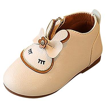 YanHoo Zapatos para niñas pequeñas Las niñas de los niños de Dibujos Animados de Conejo Arco