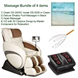 Product review for Massage Bundle of 4 items: Osaki OS-3000C Executive ZERO GRAVITY Massage Chair in Cream, Synthetic Leather, Shiatsu Foot Massager in Black, Head Massager and Double CD with 50 Classics Songs