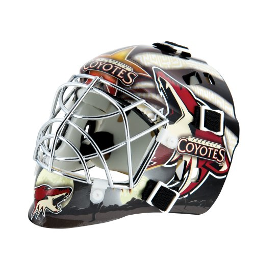 fan products of Franklin Sports NHL League Logo Phoenix Coyotes Mini Goalie Mask