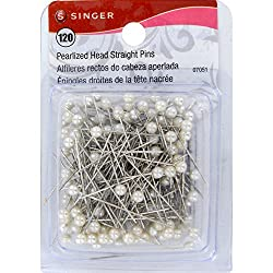 Singer Pearlized Ball Head Straight Pins, 120-Count
