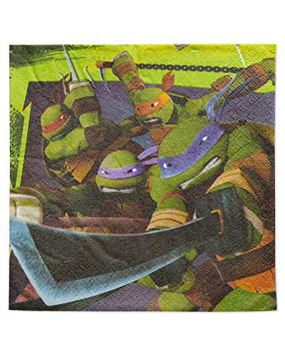 (American Greetings Teenage Mutant Ninja Turtle Party Supplies, Paper Lunch Napkins,)