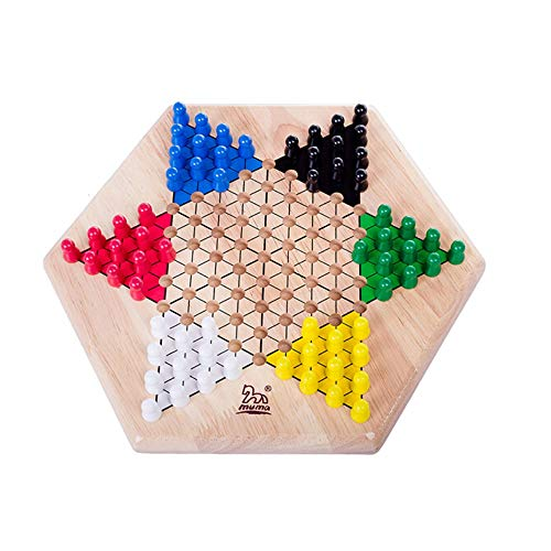 Fengshangshanghang Checkers, Solid Wood Checkers, Table Games for All People, Chessboard Hexagon Design, Fine Workmanship ( Size : 32.529.55cm - Oak Chess Table
