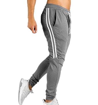 Mens Casual Elasticated Cintura Ocio Joggers Pantalones ...