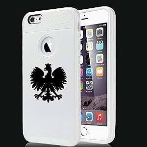 For Apple iPhone 6 6s Shockproof Impact Hard Case Cover Poland Polish Eagle (White)