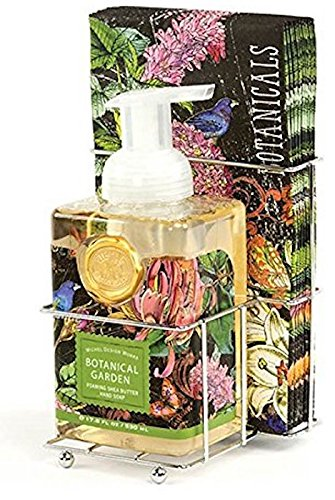 Hand Care Caddy - Michel Design Works Foaming Hand Soap and Napkin Caddy Set, Botanical Garden