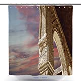 vanfan-Unique Shower Curtains Arches In Islamic Moorish Style In Alhambra Granada Spain Bath Decorations Bathroom Decor Sets With Hooks(70 x 92 inches)
