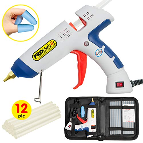 Glue Gun Crafts (Hot Melt Glue Gun Kit Full Size 100 Watt with Carry Bag and 12 pcs Glue Sticks, for DIY, Arts & Crafts Projects, Sealing, Quick Repairs, Light and Heavy Duty,)