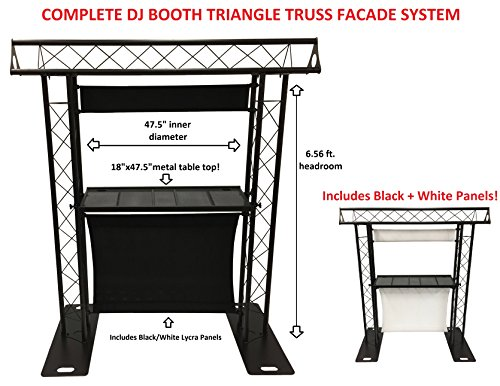BEAST-5 DJ Event Facade White/Black Scrims Triangle Truss Booth Complete Arch - Booth Truss