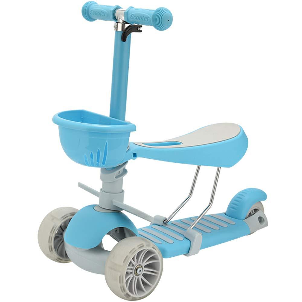 Amazon.com: BMHFF - Patinete 3 en 1 para niños con 3 ruedas ...