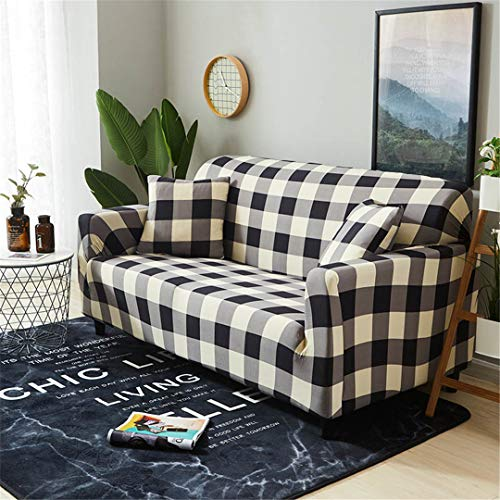 (Ranferuyk Elastic Sofa Slipcovers All-Inclusive Couch Cover Loveseat L Shaped Corner Sofa Covers for Living Room Sofa Sofa Towel 1PC Color 6 1-seat 90-140cm)