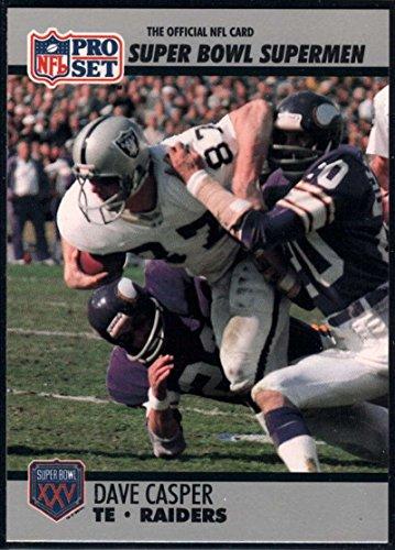 - Football NFL 1990-91 Pro Set Super Bowl 160 #53 Dave Casper NM-MT Raiders