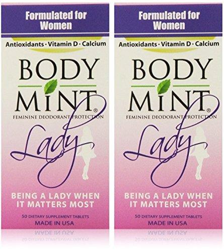 海外直送品  女性用ボディミント Body Mint Lady 50錠入り (Pack of 2) B01HP6ZYHU