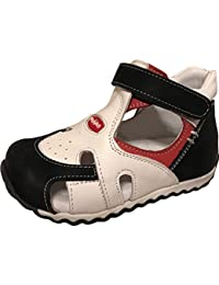 a570a9d9e7 Boys Shoes Izmit 1100-1 Turkish Orthopedic Leather Summer Sandals with Arch  Support · PERLINA