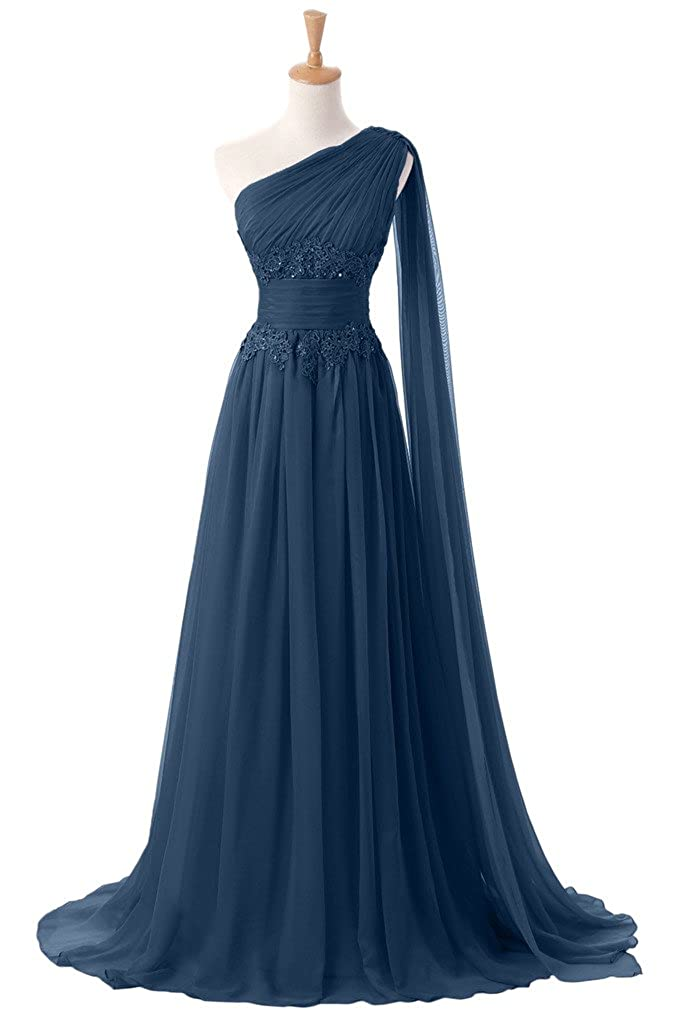 Sunvary New Applique Waist Chiffon Mother of the Bride Dress for Evening Pageant