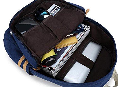 Da.Wa Frauen Reise Canvas Rucksack Laptop Rucksack Schul Schulter Buch Tasche