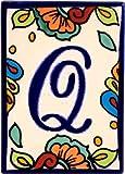 Hacienda Talavera Ceramic House Letter Q