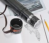 "Black Plastic 17.5"" x 2.5"" Diameter Telescoping Document and Poster Storage Transit Tube w/Nylon Carrying Strap"