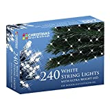 The Christmas Workshop 240 LED String Lights, Bright White