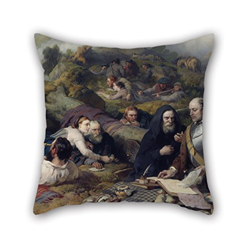 slimmingpiggy-oil-painting-sir-edwin-landseer-rent-day-in-the-wilderness-valentine-day-pillow-shams-