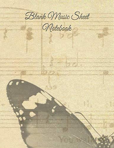 tebook: Music Manuscript Paper / Staff Paper / Musician Notebook (Music Composition Book) 12 Staves, 8.5