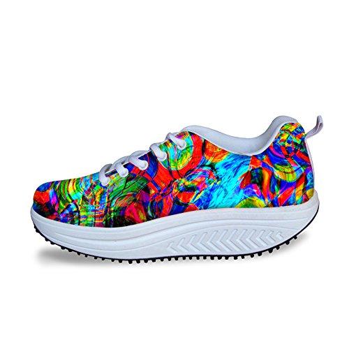 Knuffels Idee Multicolor Fashion Dames Mesh Comfort Sneakers Multicolor 12
