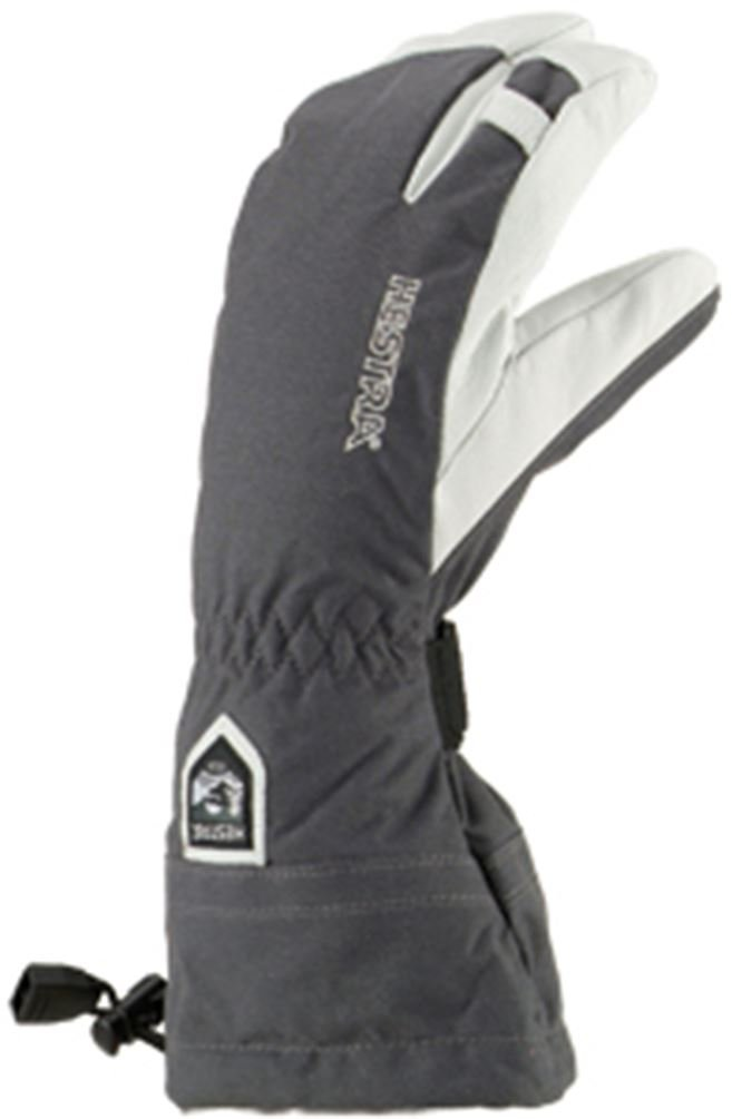 Hestra Army Leather Heli Ski 3-Finger Gloves with Gauntlet,Grey,11 by Hestra