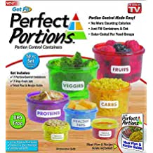 Perfect Portions Food Storage Containers - Easy Way To Lose Weight Using Portion Control