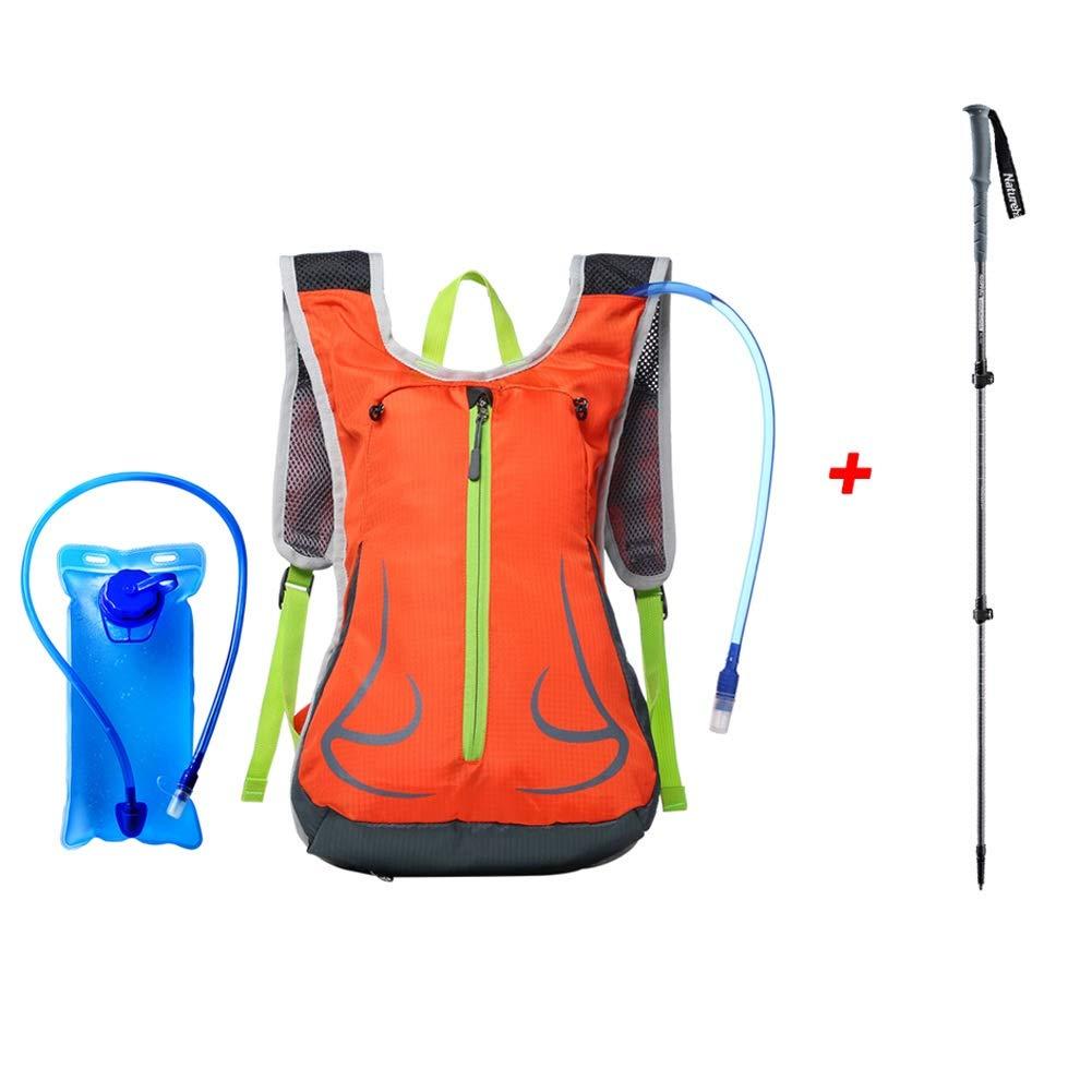 Trinkrucksack Mit 2L-Wasserblase, Outdoor-Bergsteigen, Reitrucksack, Multifunktionsrucksäcke, Mit Trekkingstange, Perfekte Outdoor-Ausrüstung Zum Skifahren, Laufen, Wandern, Radfahren